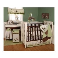 Kidsline Willow Organic Deer 6 piece crib set | Woodland ...