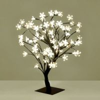 Small Decorative Warm White Blossom Sakura Style LED Tree ...