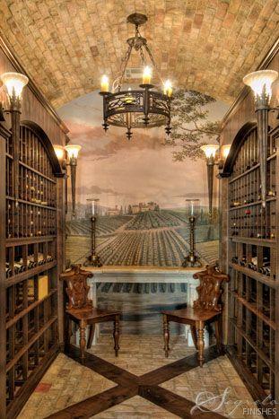 Beautiful Wine Cellar Room Love The Wine Orchard Mural