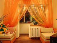 orange sheers | Light Living Room Orange Curtains | Orange ...