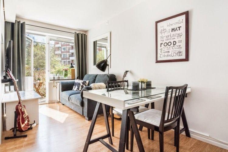 Ideen für das kleine Wohnzimmer -wohnideen-praktisch-tisch-ikea - ikea esstisch beispiele skandinavisch