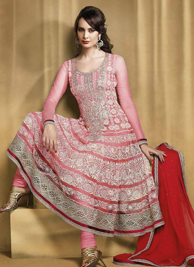 Stylish white dress wedding umbrella frocks churidar designs - Long Umbrella Frock Design 2017 Anarkali Churidar Salwar Suits Latest Stylish And Fancy Indian Umbrella Download