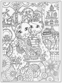 Cat Coloring Pages For Adult | Realistic Coloring Pages ...