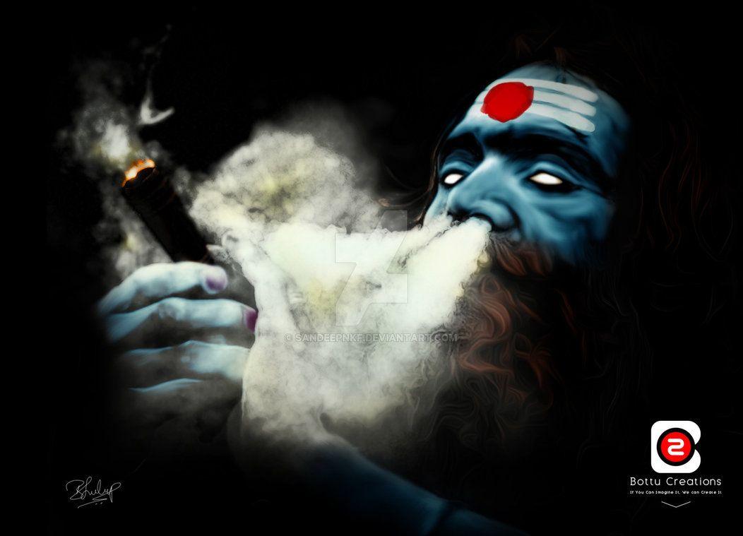 Shiva Chillum Hd Wallpaper Lord Shiva Portrait By Bottu Creations Mahakaal Hinduism