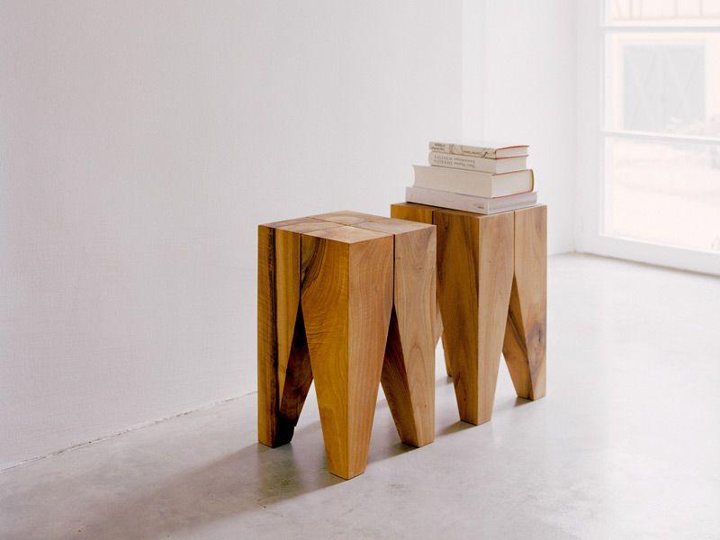 ... Natur Hocker \/ Couchtisch Aus Massivem Holz BACKENZAHN™   E15 Möbel   Echtholz  Mobel Amarist ...