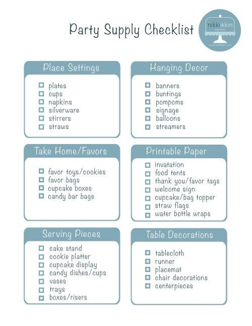 simple party planning checklist sweet sixteen Pinterest - birthday planner template