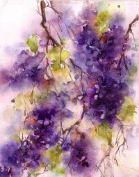 Lilac Watercolo Print, Watercolor Painting Art Print ...