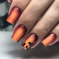 COOL fall ombre nail art design idea for acrylic and gel ...