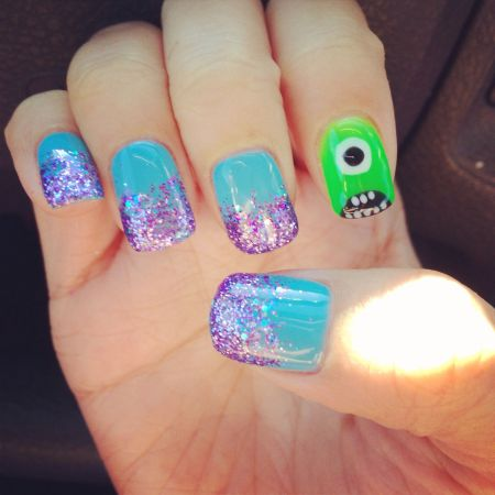 Pinterest Monsters Inc Nails