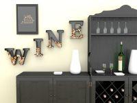 Wine Letter Cork Holder Art Wall Dcor - Metal - All 4 ...