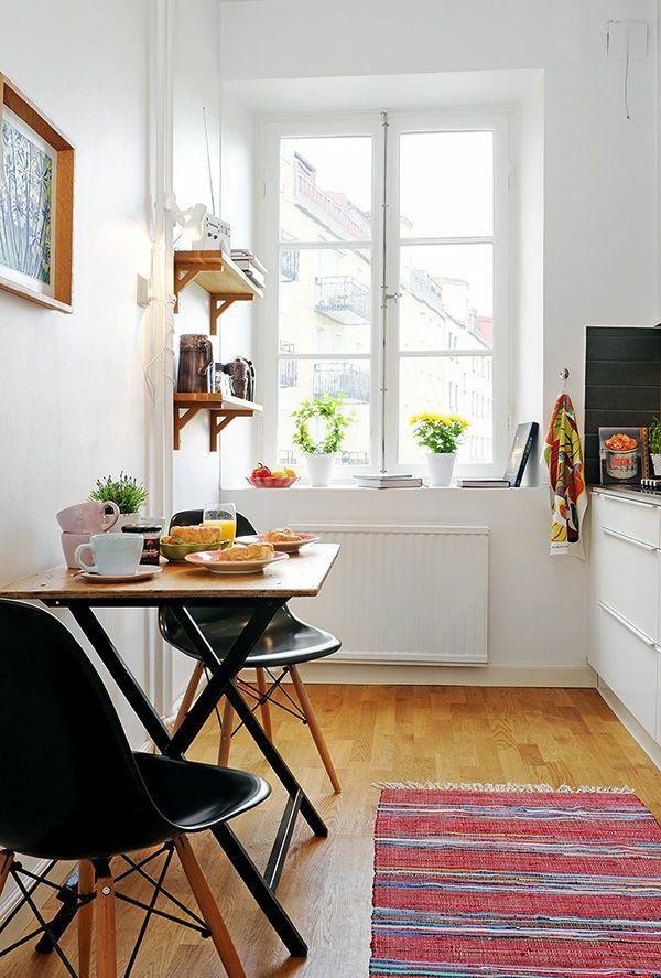 küche gestalten kleine wohnung einrichten tipps Wohnung - schmale fenster kuechen gestaltung
