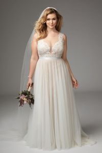 Girl With Curves featuring Plus size wedding dress from ...