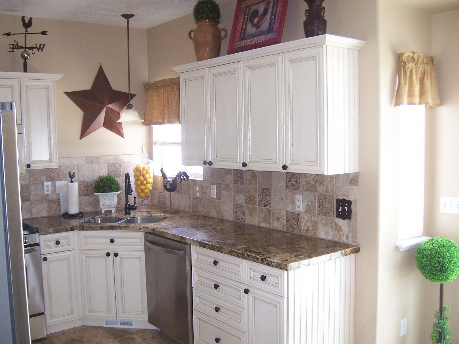 kitchen cabinets and countertops white cabinets with laminate countertops Laminate counter tops were replaced with a beautiful granite