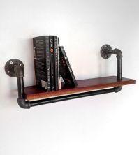 Reclaimed Wood & Pipe Book Shelf   SHELVES   Pinterest ...