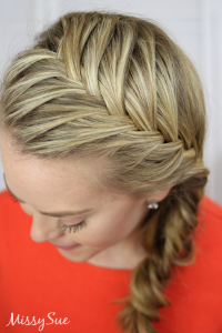 Fishtail French Braid (Video Tutorial & Written
