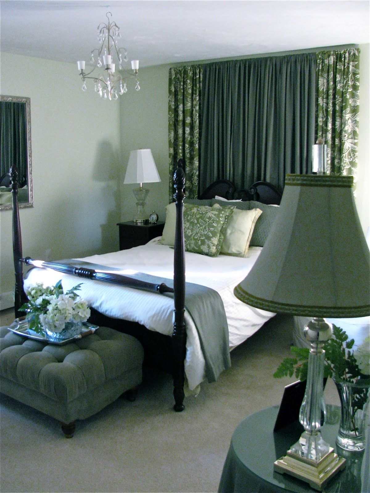 Curtains On Wall Behind Bed Curtain Headboard Use A Solid Color Behind The Bed And