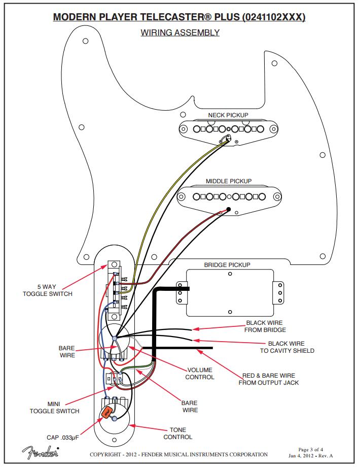 wiring schematic p90 pick up