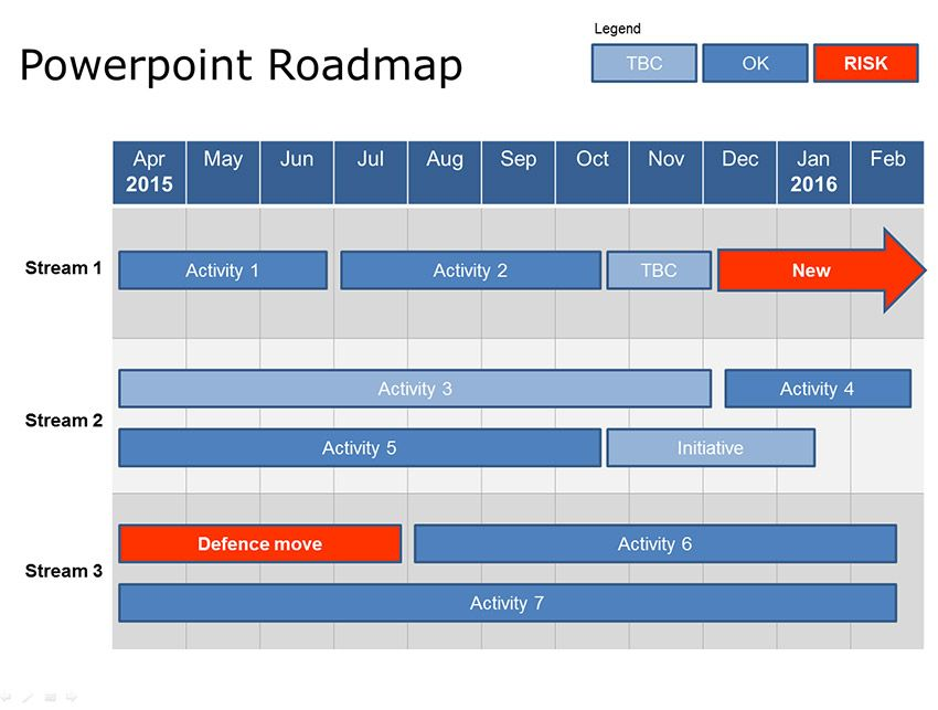 Powerpoint 1 Year Roadmap Template Download Now Strategic - sample power point calendar