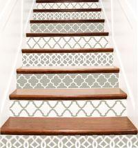 Decorative Vinyl Stair Tile Decals . Trellis Decor Steps
