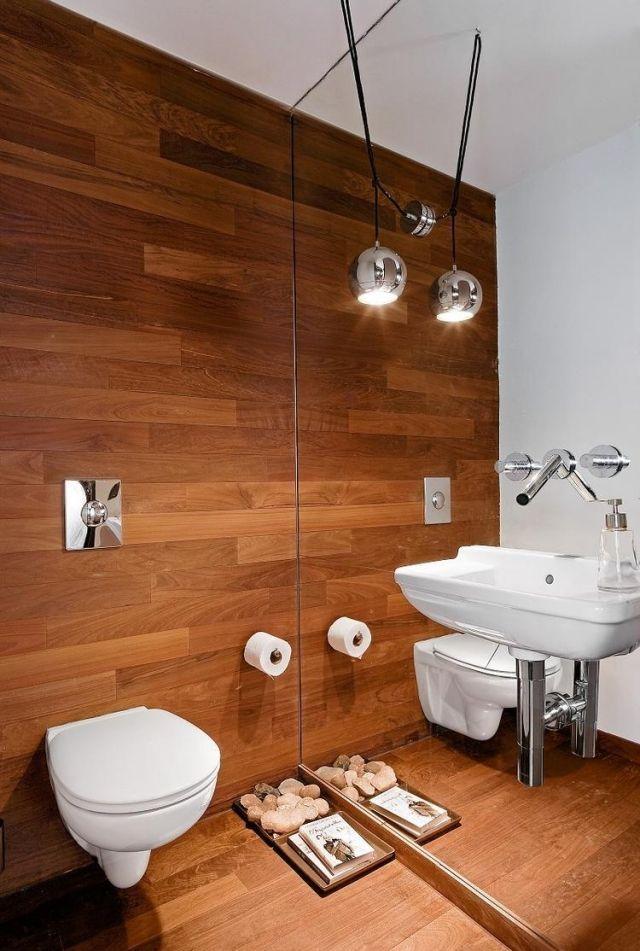 badideen-fliesen-holzoptik-spiegelwand-waschbecken-wand-armatur - badideen fliesen