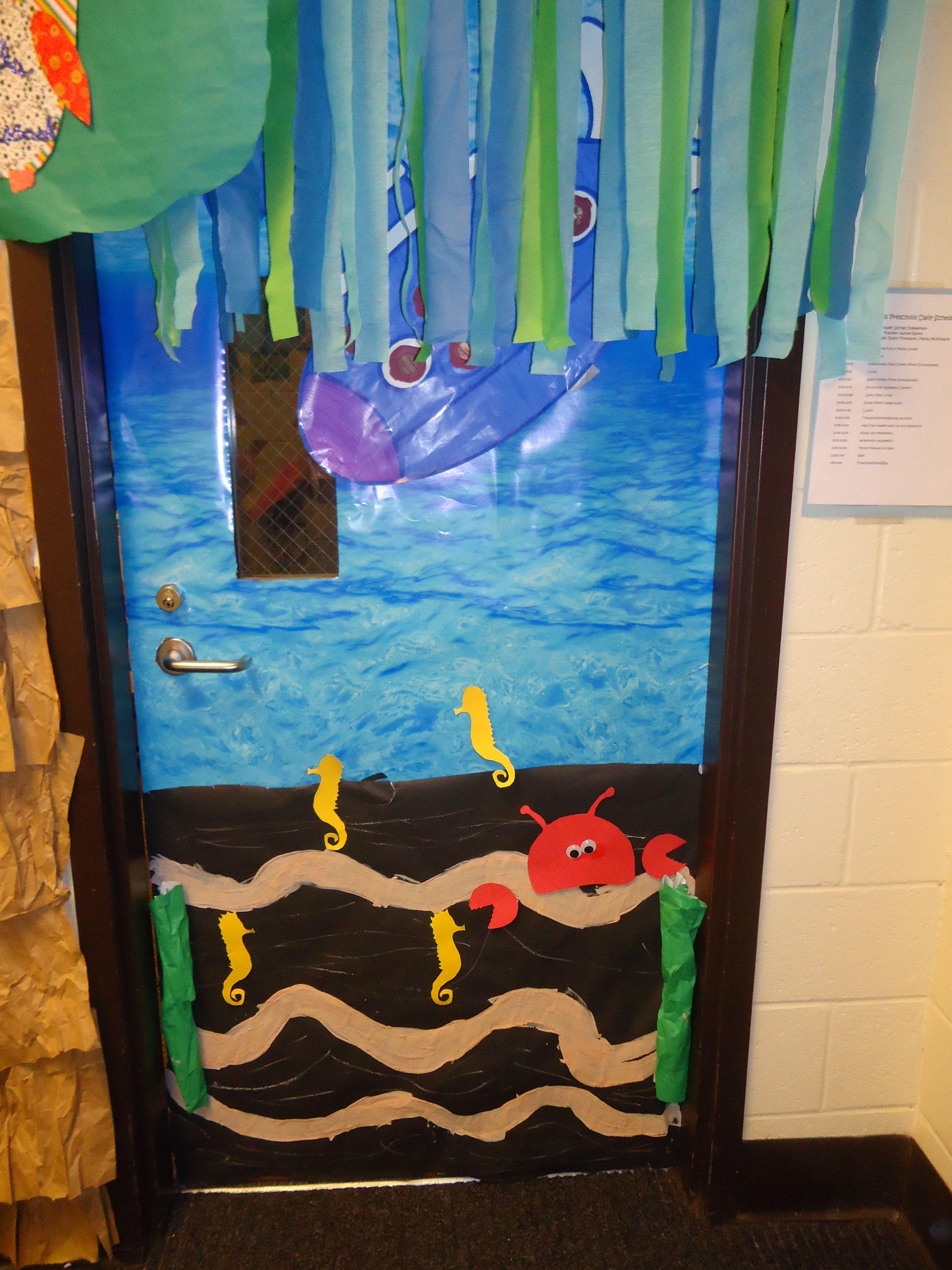 door decoration for ocean or transportation theme