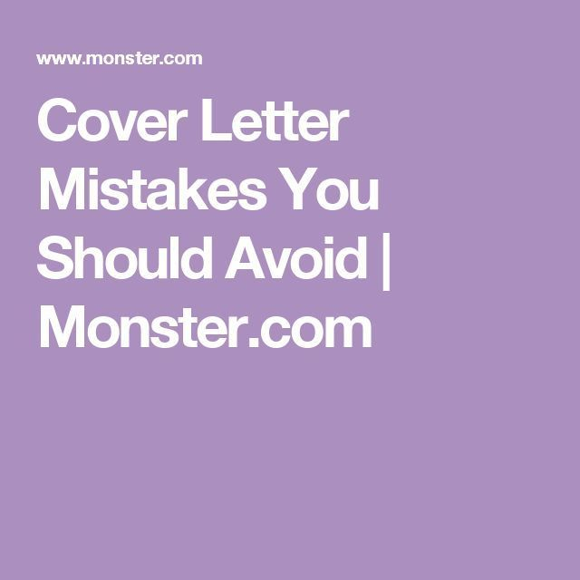 Career infographic  Cover Letter Mistakes You Should Avoid - cover letter mistakes