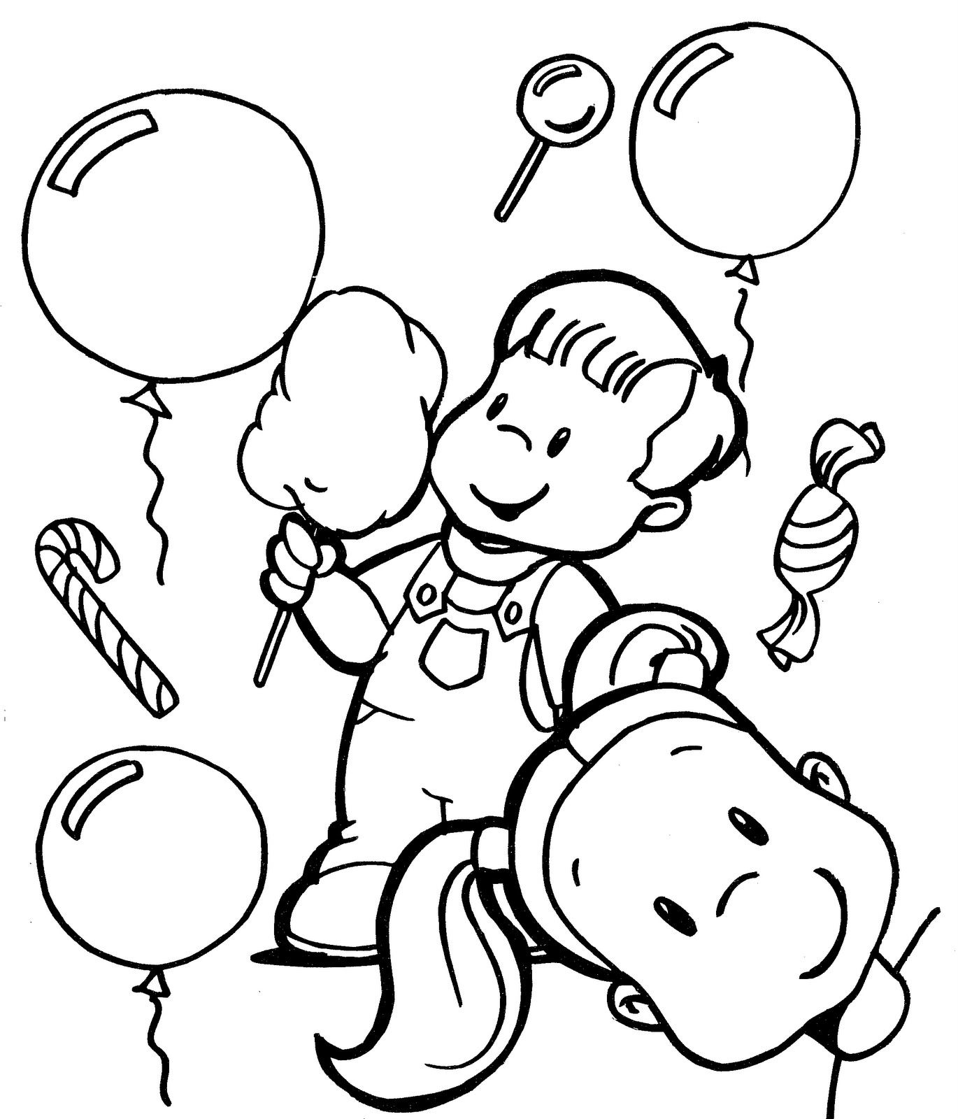Children day coloring pages of kids enjoying jpg
