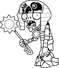 Original coloring pages plants vs zombies 2 egyptian ...