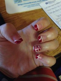 Cute nail design...colored French tips.   Hair   Pinterest ...
