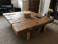 Reclaimed Pine Coffee Table - Rustic Furniture,railway ...