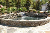 Raised pond, patio, and bench finished | Aquaponics ...