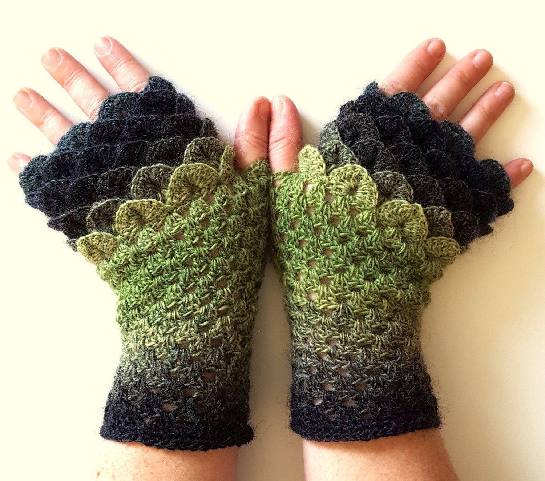 Ooak dragon gloves fingerless gloves womens gloves winter gloves handmade wrist warmers arm warmers texting gloves