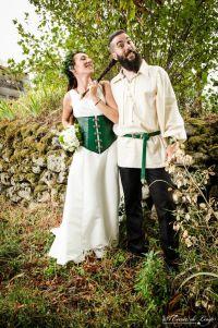 Our viking / celtic like wedding. All DIY : dress, leather ...