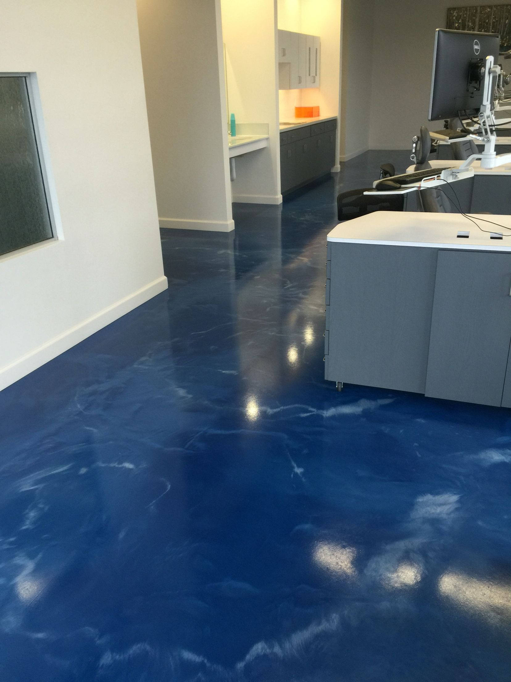 Metallic Epoxy Metallic Epoxy Floor Installed For A Dental Office By