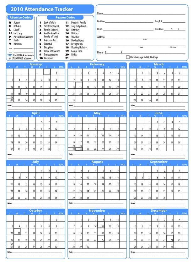 Printable 2017 Employee Attendance Calendar janice calendar - attendance calendar template