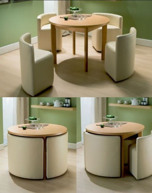 Round Dining Table \ Chairs for Small Homes Architecture, Spaces - space saving ideas for small homes