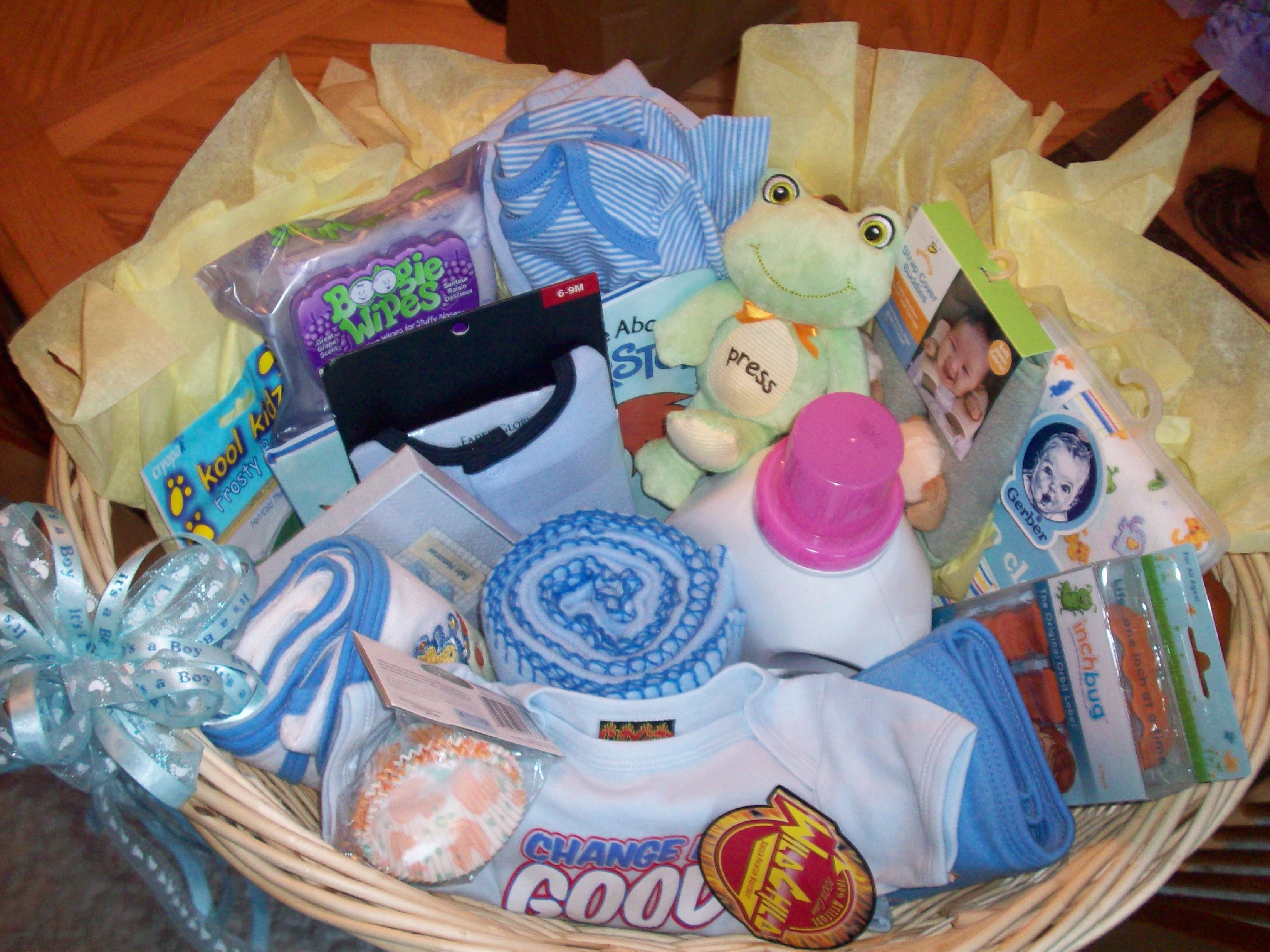 Baby Laundry Bin Baby Shower Gift Wicker Laundry Basket Filled With Baby