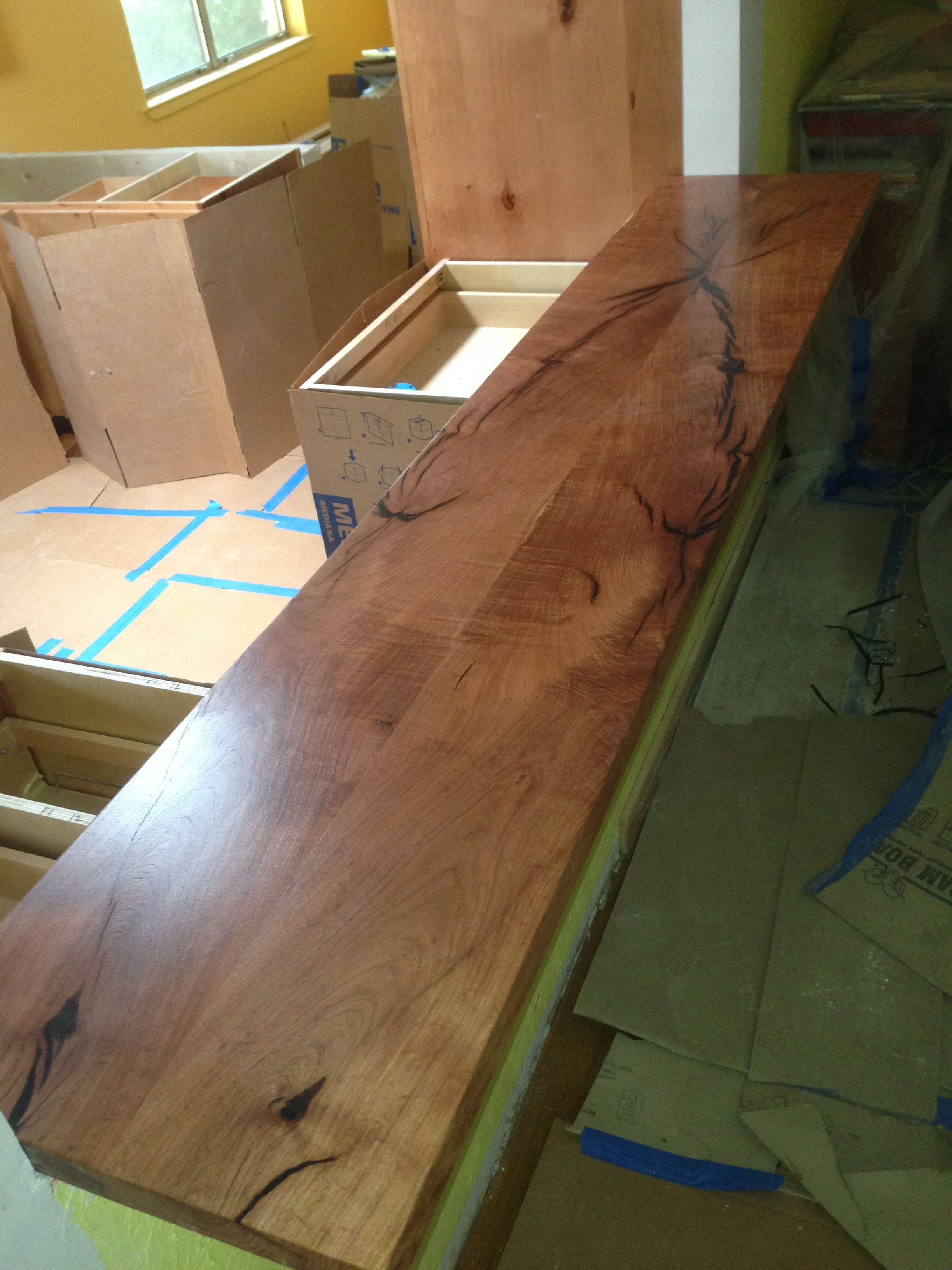 bar top kitchen tables Mesquite book matched kitchen bar top