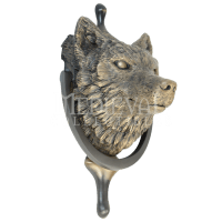 Wolf Door & Wolf Door Knocker