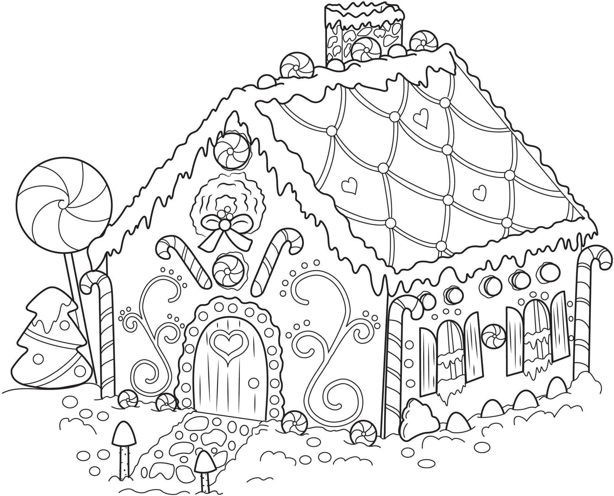 Free gingerbread man fairy tale coloring pages coloring pages gingerbread house