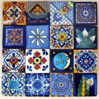 16 pcs Mexican Tile Talavera Handmade talavera tile 2x2 ...