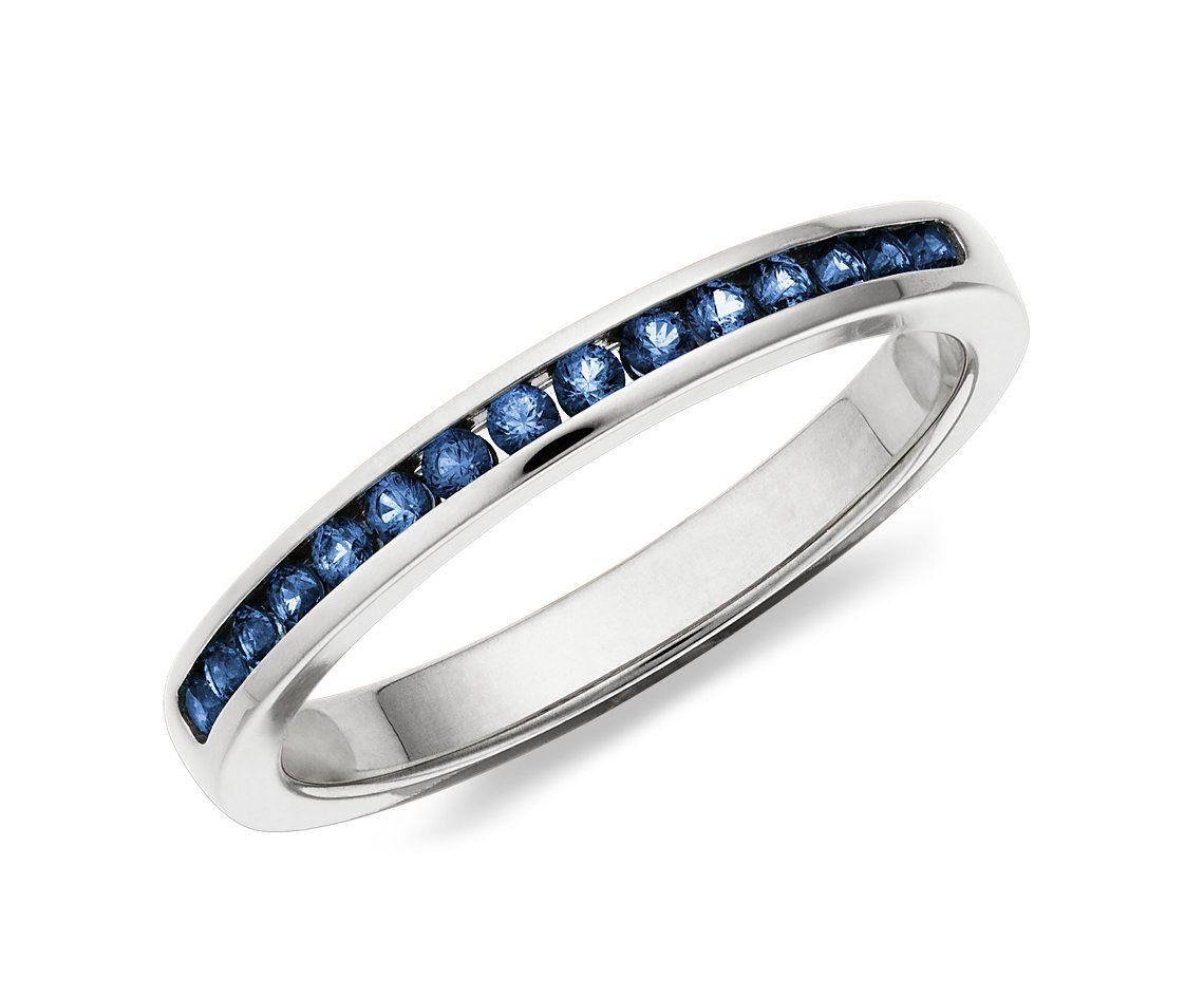 law enforcement wedding bands Amethyst Channel Set Ring in 14k Rose Gold