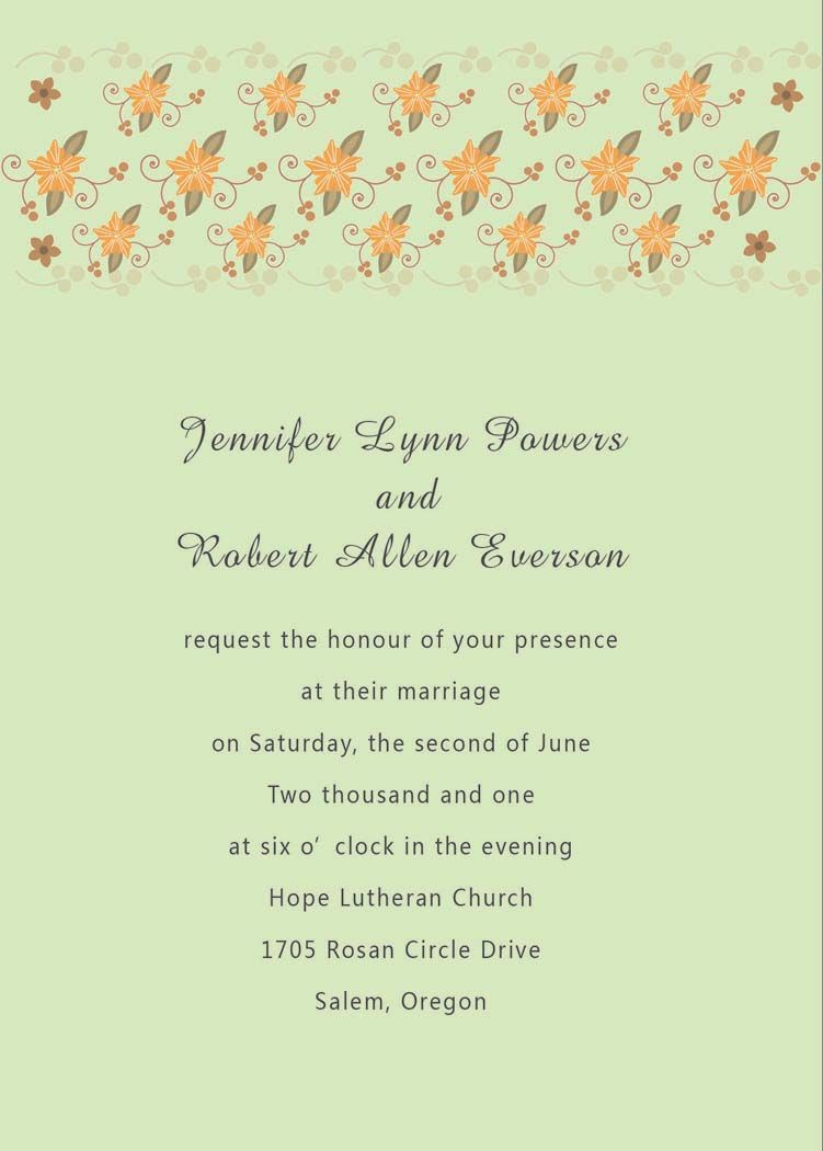 reception only wedding invitations Wedding Invitations In Spanish Text