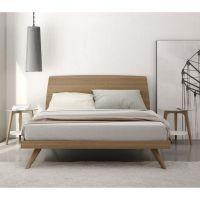 Bedroom. modern mid century natural color walnut king size ...