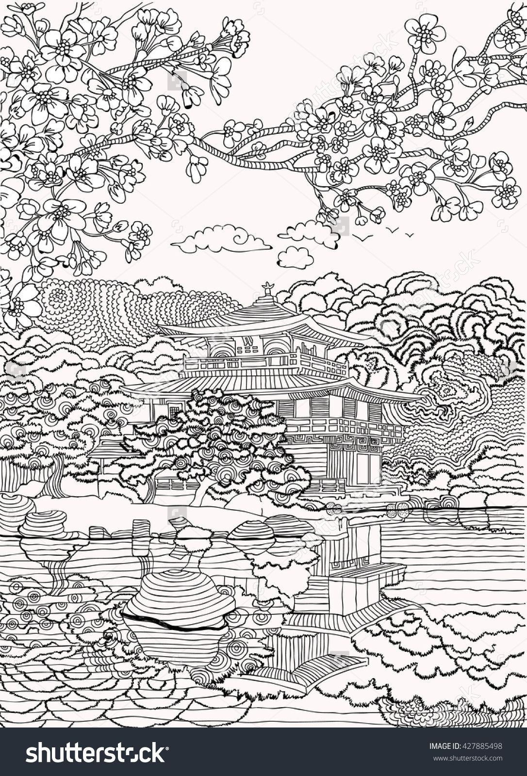 Japan coloring pages shutterstock 427885498