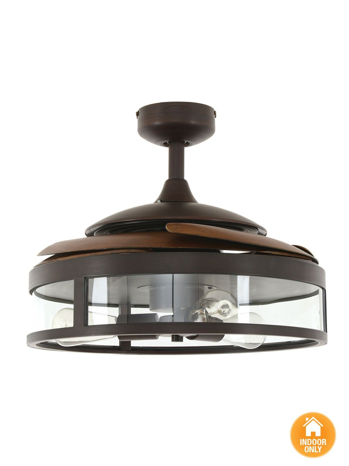 Fanaway Classic ORB Ceiling Fan With Clear Retractable