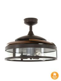 Fanaway Classic ORB Ceiling Fan With Clear Retractable ...