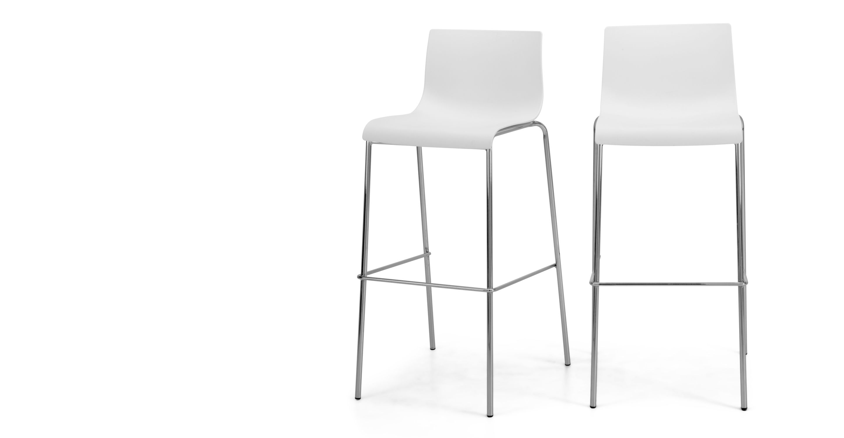 Tabourets Easy 2 X Piloti Tabourets De Bar Blancs Kitchen Dining Stools And Dining