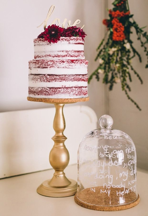 Naked Red Velvet Cake - Paint the Gown Red But cut the sugar or - kuchen design de rosso velve kollektion