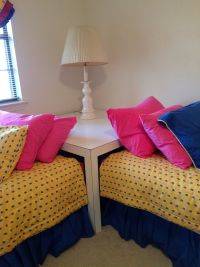 Corner table for twin beds | Guest House | Pinterest ...